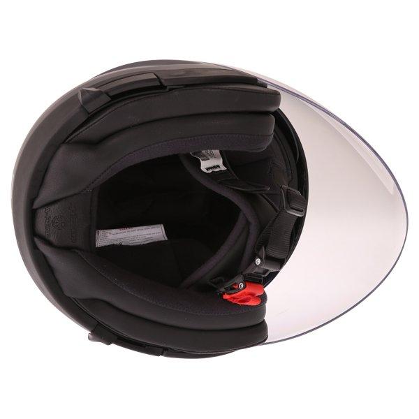 Alpinestars Novus Matt Black Open Face Motorcycle Helmet Inside