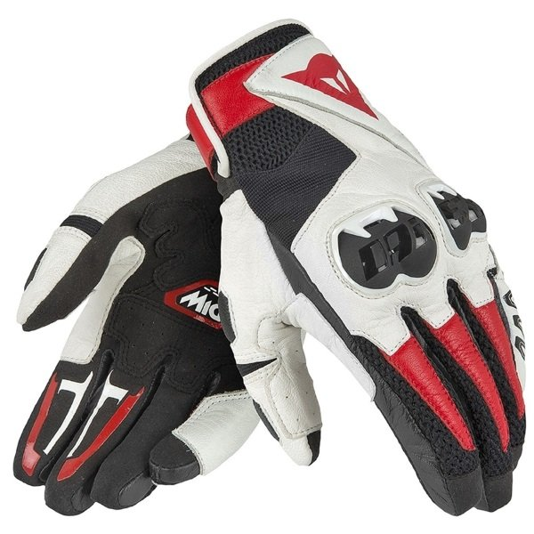Mig C2 Gloves Black White Red Summer Gloves