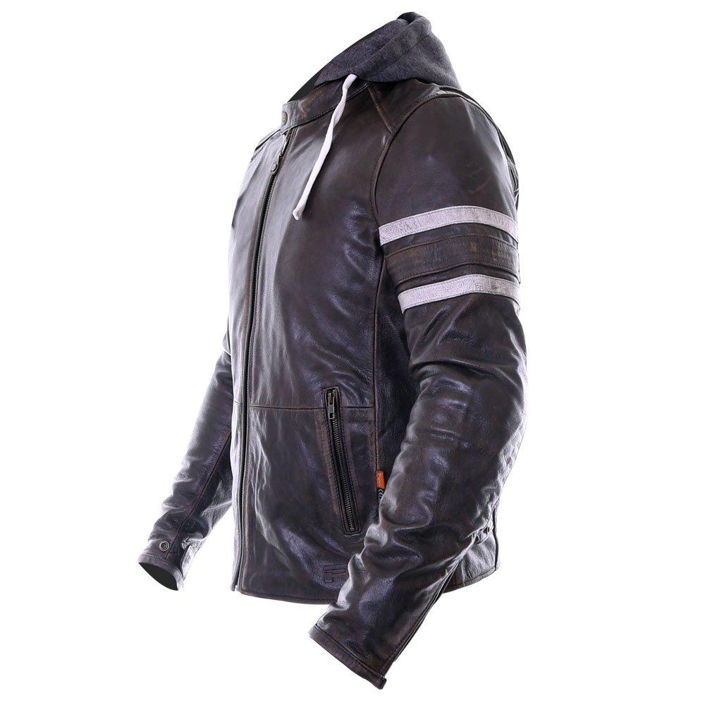 Richa Toulon Black Leather Motorcycle Jacket Back