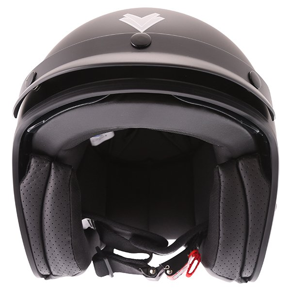 Frank Thomas DV37 Matt Black Open Face Motorcycle Helmet Front