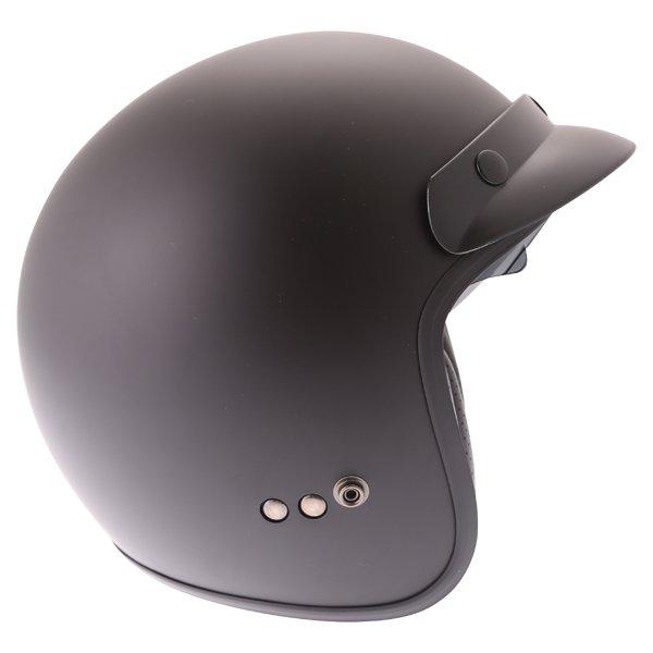 Frank Thomas DV37 Matt Black Open Face Motorcycle Helmet Right Side