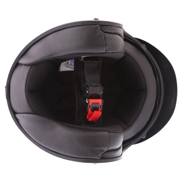 Frank Thomas DV37 Matt Black Open Face Motorcycle Helmet Inside