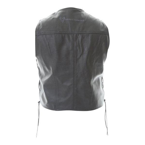 Frank Thomas BGT Black Leather Waistcoat Back