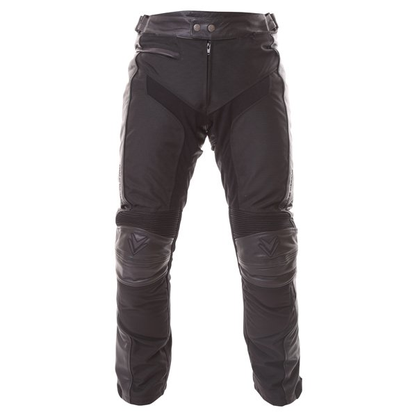 Frank Thomas Crossover L-Tex Mens Black Waterproof Textile Motorcycle Jeans Front