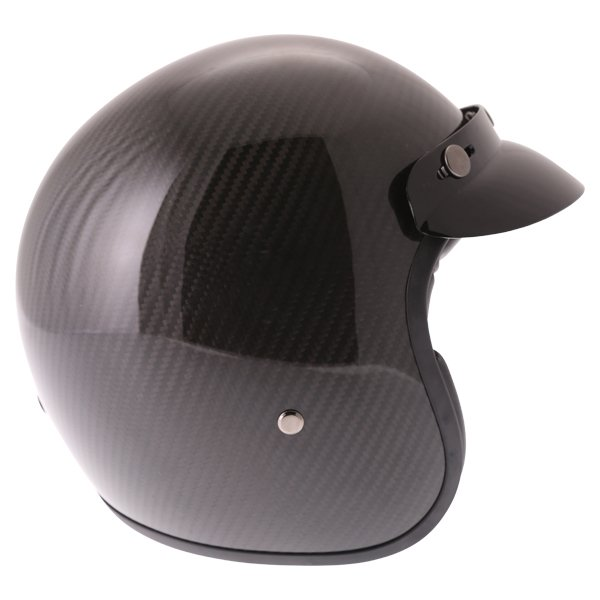 Frank Thomas Carbon 361 Black Open Face Motorcycle Helmet Right Side