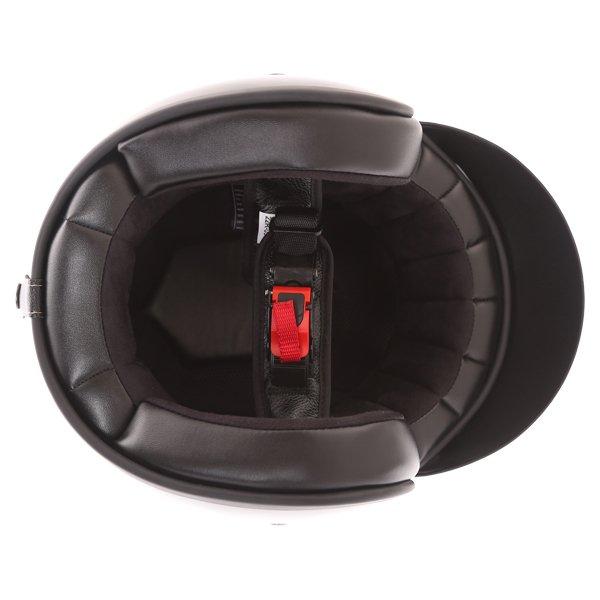 Frank Thomas Carbon 361 Black Open Face Motorcycle Helmet Inside