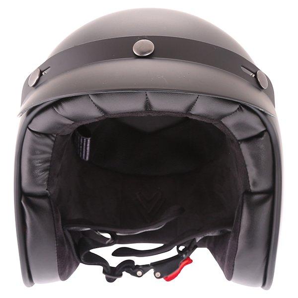 Frank Thomas Carbon 361 Matt Black Open Face Motorcycle Helmet Front