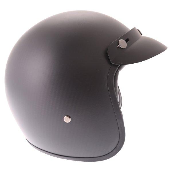 Frank Thomas Carbon 361 Matt Black Open Face Motorcycle Helmet Right Side
