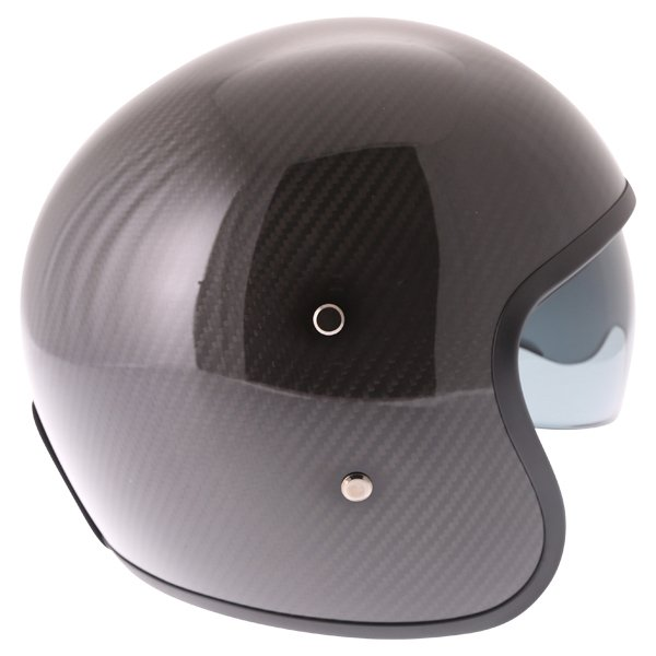 Frank Thomas Carbon 363 Black Open Face Motorcycle Helmet Right Side
