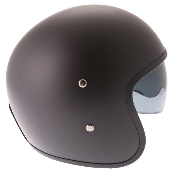 Frank Thomas Carbon 363 Matt Black Open Face Motorcycle Helmet Right Side