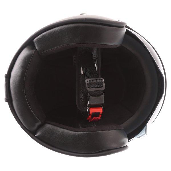 Frank Thomas Carbon 363 Matt Black Open Face Motorcycle Helmet Inside