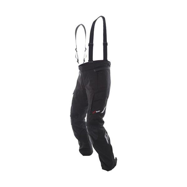 Alpinestars Andes V2 Drystar Mens Black Waterproof Textile Motorcycle Pants Riding position