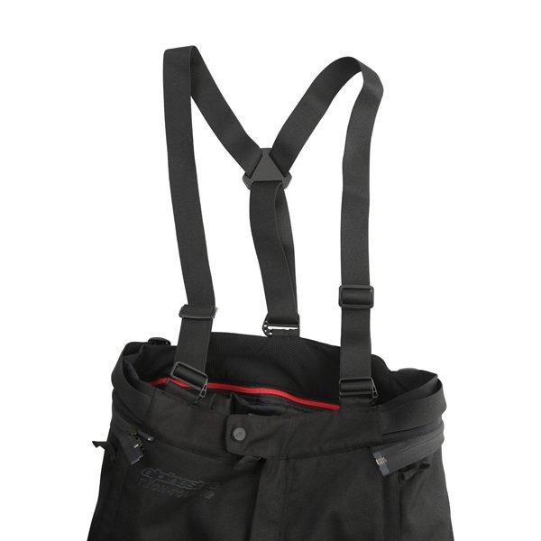 Alpinestars Andes V2 Drystar Mens Black Waterproof Textile Motorcycle Pants Braces
