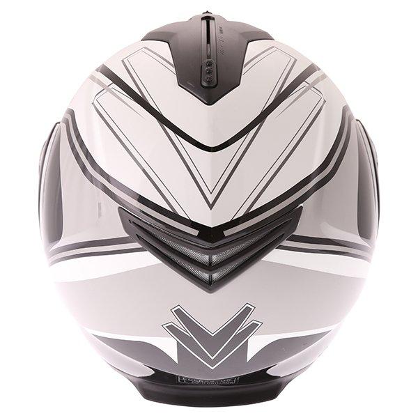 Frank Thomas DV06 White Black Grey Flip Front Motorcycle Helmet Back