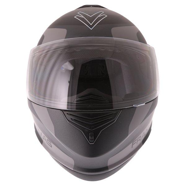 Frank Thomas DV06 Matt Black Grey Flip Front Motorcycle Helmet Front