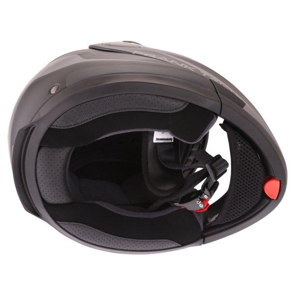 Frank Thomas DV06 Matt Black Grey Flip Front Motorcycle Helmet Inside