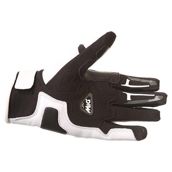 Dainese MIG C2 Black White Motorcycle Gloves Palm