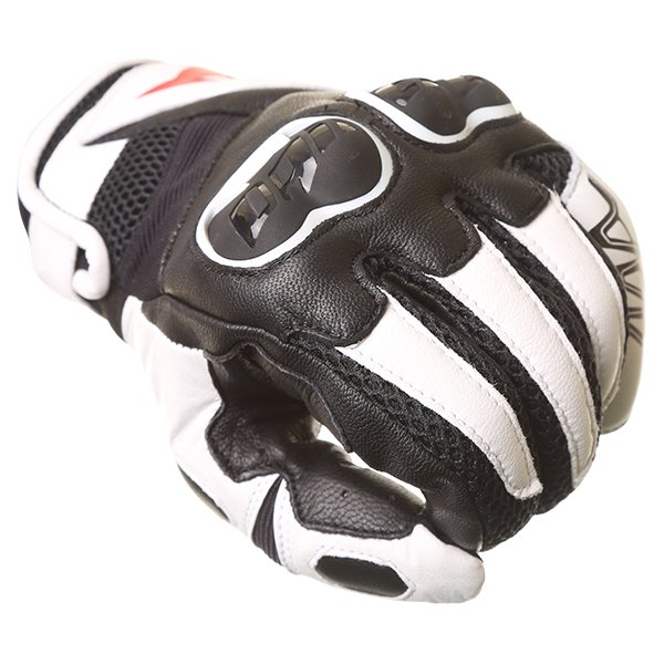 Dainese MIG C2 Black White Motorcycle Gloves Knuckle