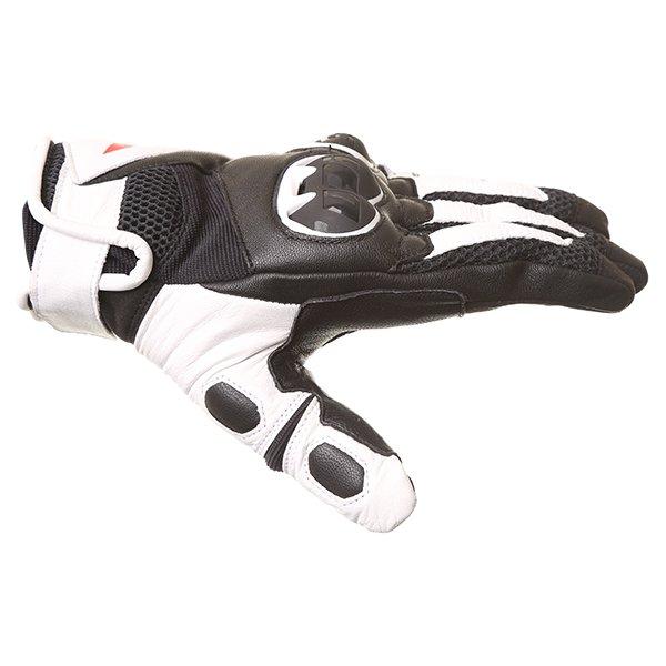 Dainese MIG C2 Black White Motorcycle Gloves Thumb side