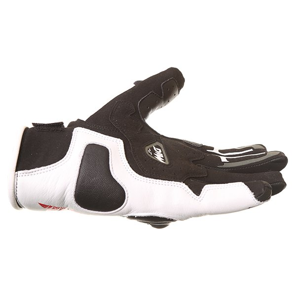 Dainese MIG C2 Black White Motorcycle Gloves Little finger side