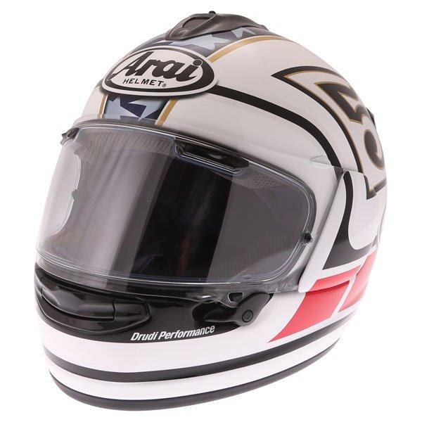 Arai Chaser-X Edwards Legend White Full Face Motorcycle Helmet Front Left