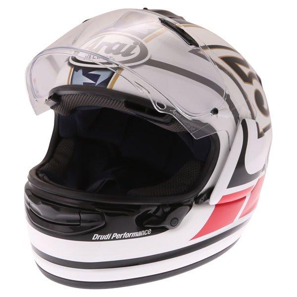 Arai Chaser-X Edwards Legend White Full Face Motorcycle Helmet Open Visor