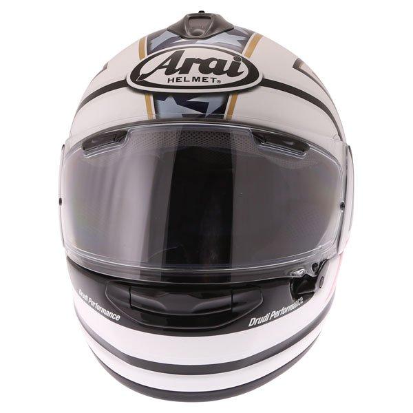 Arai Chaser-X Edwards Legend White Full Face Motorcycle Helmet Front
