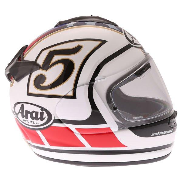 Arai Chaser-X Edwards Legend White Full Face Motorcycle Helmet Right Side