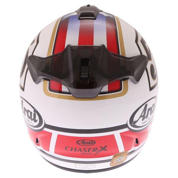 Arai Chaser-X Edwards Legend White Full Face Motorcycle Helmet Back