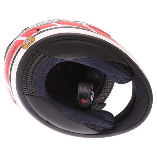Arai Chaser-X Edwards Legend White Full Face Motorcycle Helmet Inside