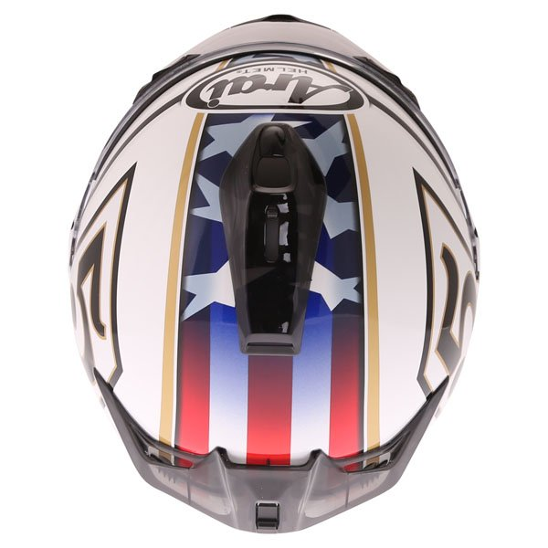 Arai Chaser-X Edwards Legend White Full Face Motorcycle Helmet Top