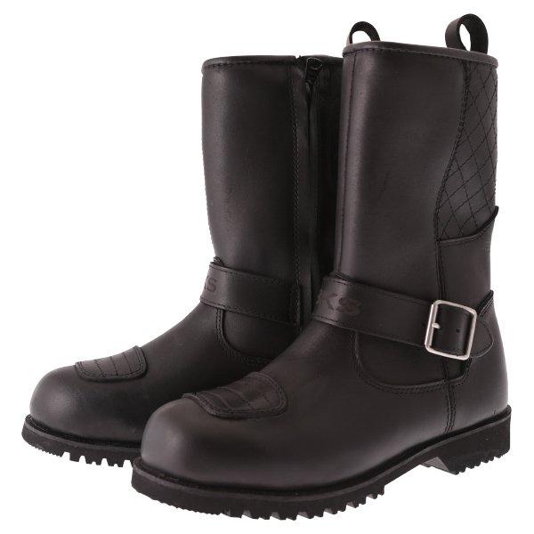 Lady Cruiser Buckle Boots Black Ladies