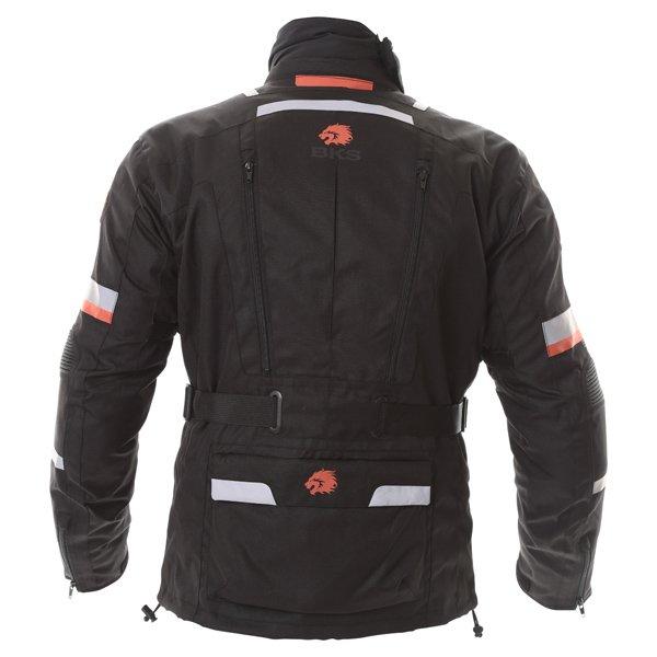 BKS Endeavour Mens Black Anthracite Red Textile Motorcycle Jacket Back