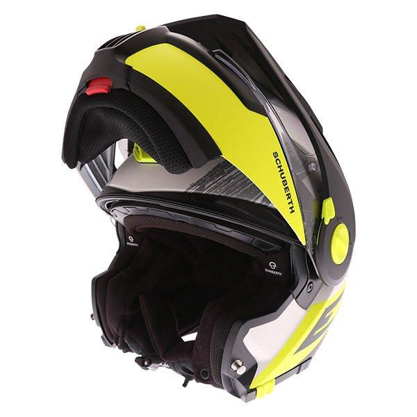 E1 Crossfire Helmet Yellow Adventure & Touring Motorcycle Helmets