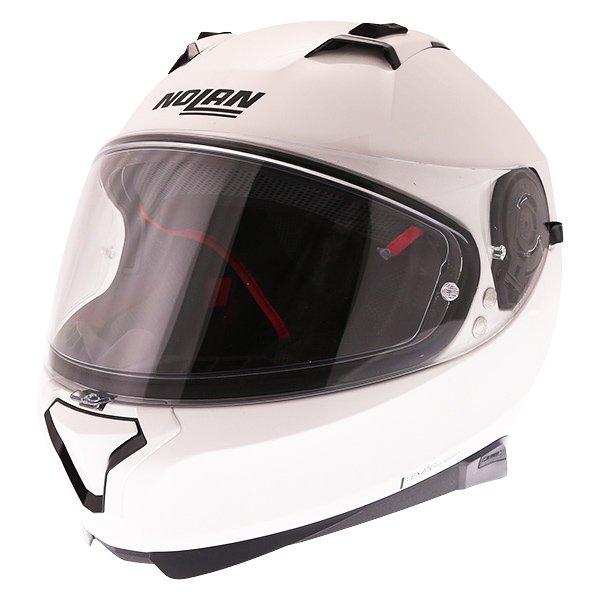 N87 Classic N-Com 5 White Nolan Helmets