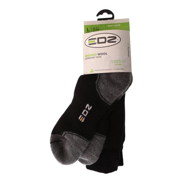 EDZ Merino Long Black Grey Boots Socks