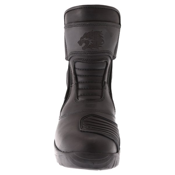 BKS Storm Waterproof Black Short Motorcycle Boots Front