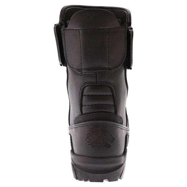 BKS Storm Waterproof Black Short Motorcycle Boots Heel
