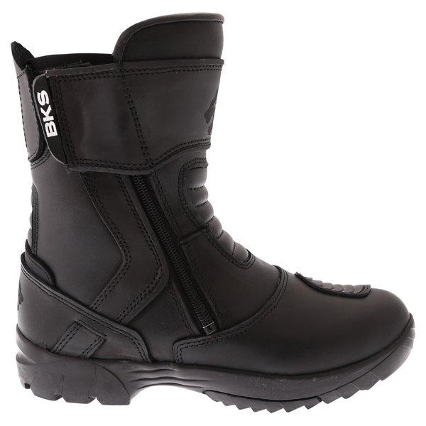 BKS Storm Waterproof Black Short Motorcycle Boots Outside leg
