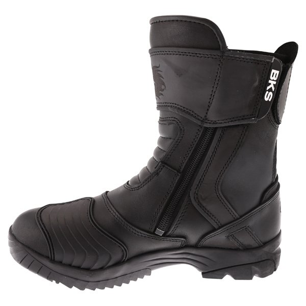 BKS Storm Waterproof Black Short Motorcycle Boots Inside leg