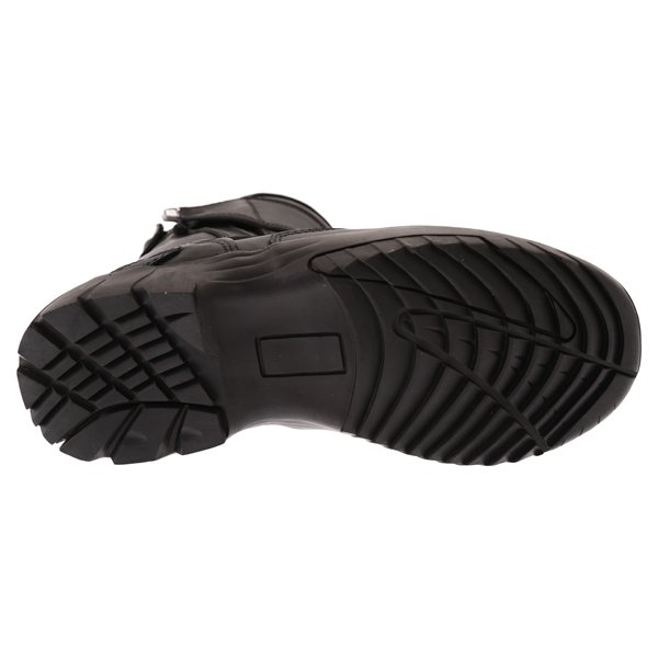 BKS Storm Waterproof Black Short Motorcycle Boots Sole