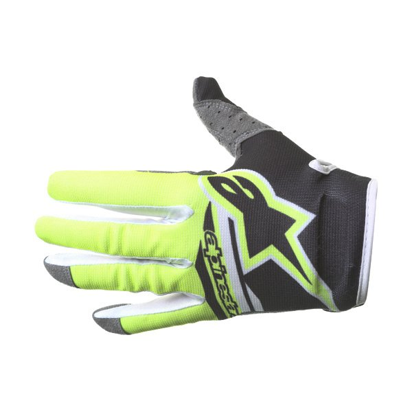 Alpinestars Radar Flight Black Yellow Motocross Gloves Back