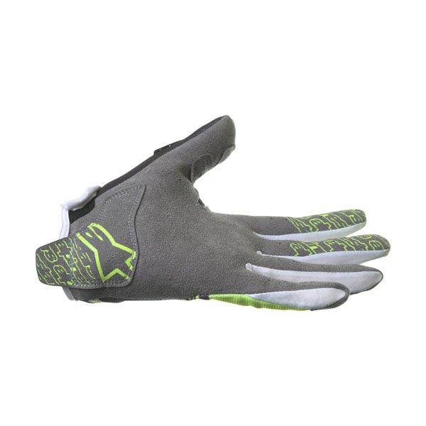 Alpinestars Radar Flight Black Yellow Motocross Gloves Little finger side