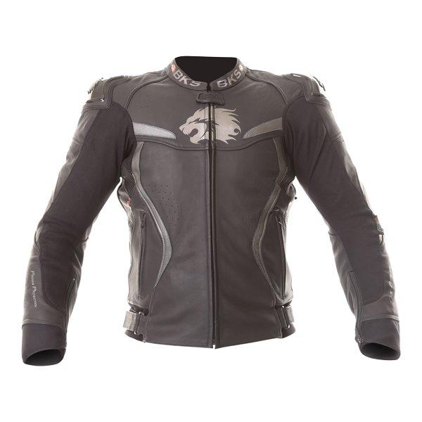 BKS Evolution Pro Black Leather Motorcycle Jacket Front