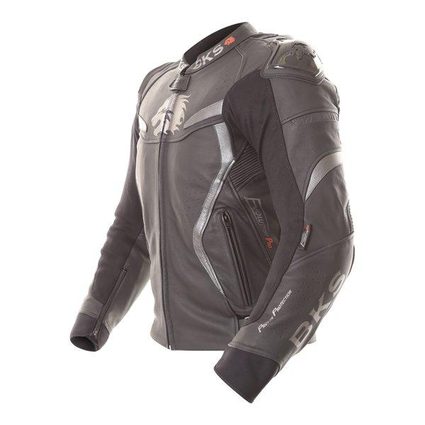 BKS Evolution Pro Black Leather Motorcycle Jacket Side