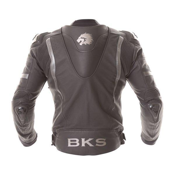 BKS Evolution Pro Black Leather Motorcycle Jacket Back