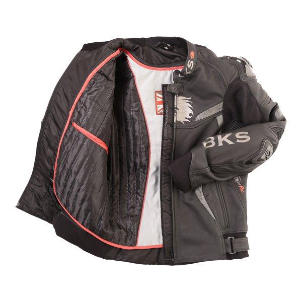 BKS Evolution Pro Black Leather Motorcycle Jacket Inside