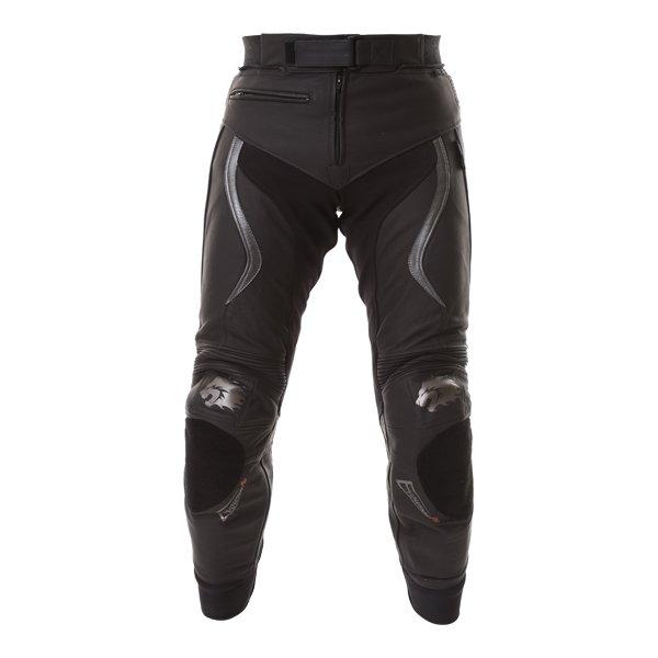 BKS Evolution Pro Black Leather Motorcycle Jeans Front