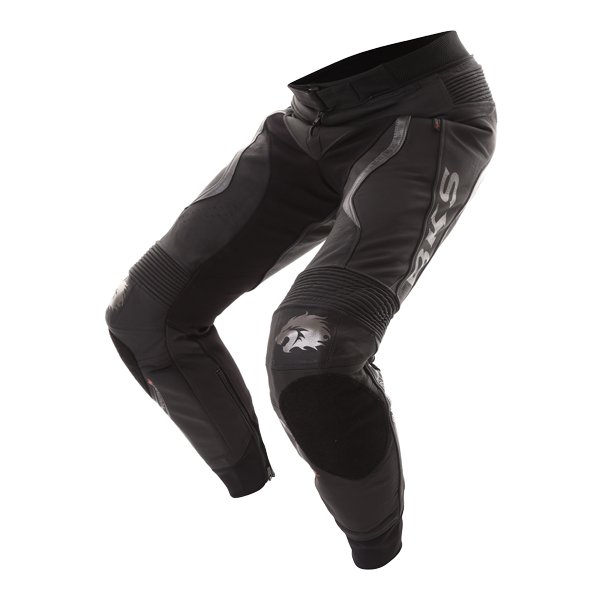 BKS Evolution Pro Black Leather Motorcycle Jeans Riding crouch