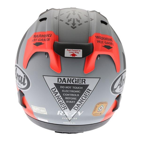 Arai RX-7V Maverick Full Face Motorcycle Helmet Back